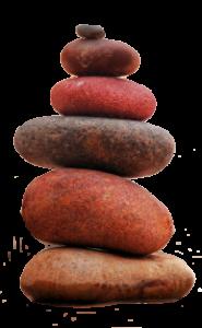 balans, gestapelde ronde stenen